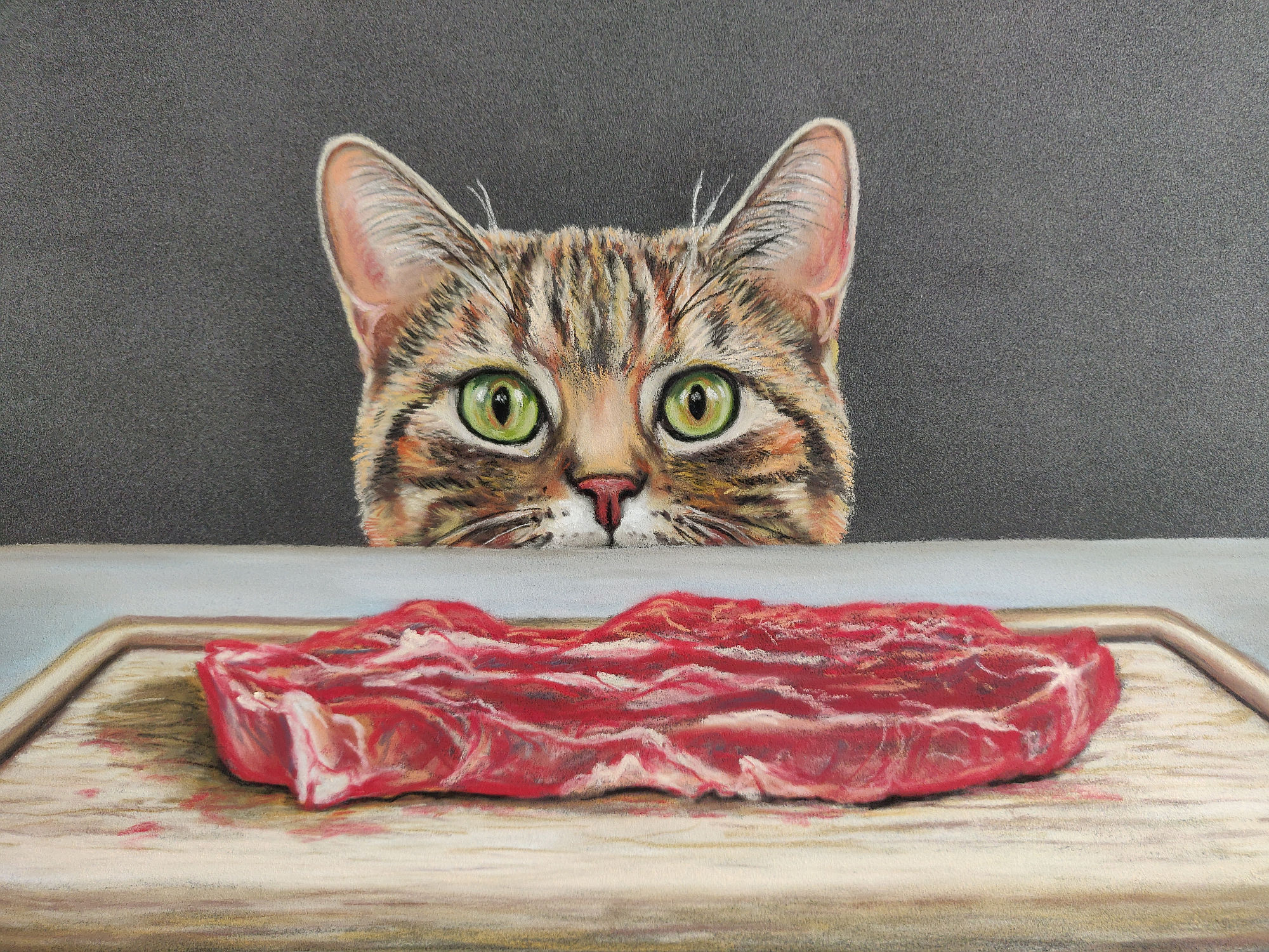 Dierenportretten in pastel
